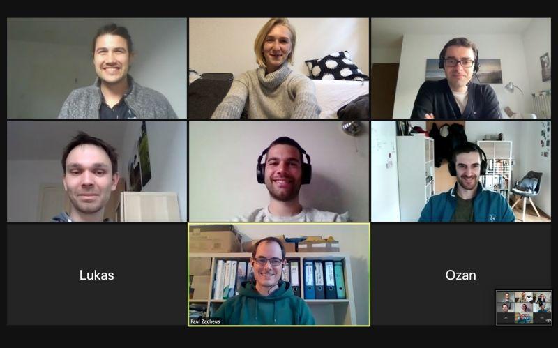 Volunteers in the weekly video call